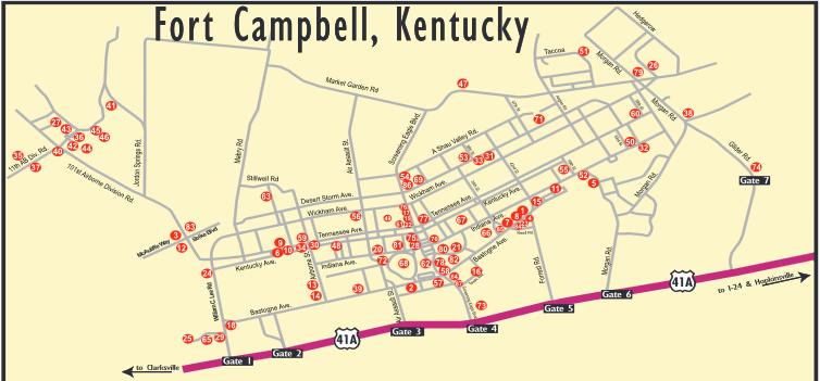 Ft Campbell Ky Map Ft Campbell Ky Map | compressportnederland Ft Campbell Ky Map