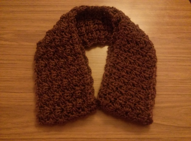 blanket stitch scarf
